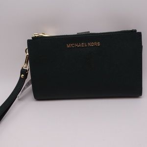 Michael Kors Jet Set Racing Green Saffiano Leather